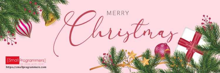 Merry Christmas Website Banner